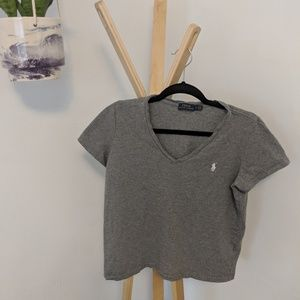 ❤️ polo pony basic gray t shirt